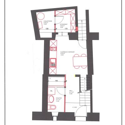 Rue de la Fontaine 38,Vaud,Maison contiguë,1046